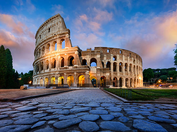 Colosseum in Rome at dusk