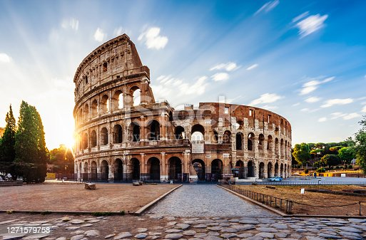 istock Colosseum in Rome during sunrise 1271579758