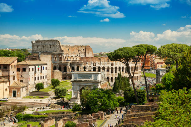 Colosseum in Rome, Italy Koloseum w Rzymie, Włochy roman forum stock pictures, royalty-free photos & images