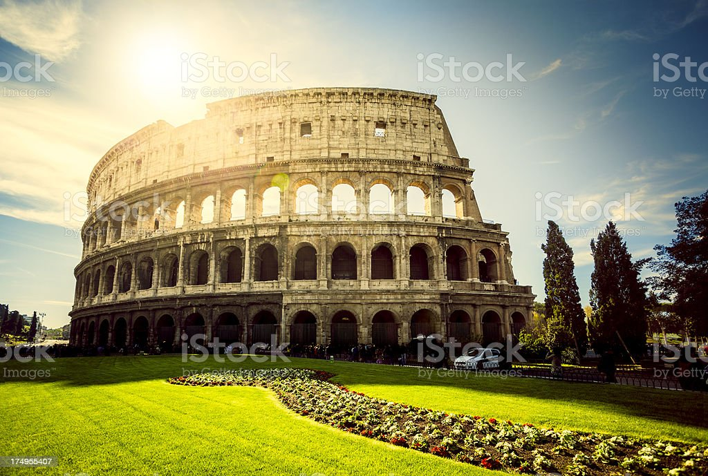 Colosseum in Rome, Italy. stock photo
