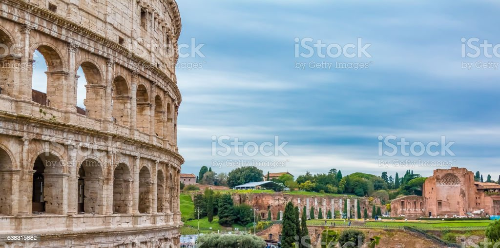 Colosseum in Rome Italy stock photo