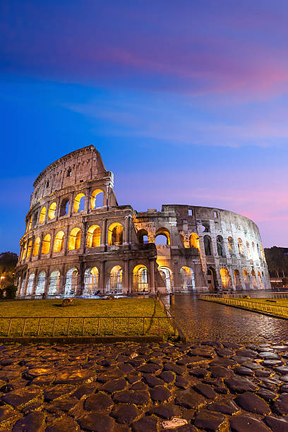 Colosseum in Rome Colosseum in Rome , Italy at twilight coliseum rome stock pictures, royalty-free photos & images