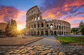 istock Colosseum in Rome with morning sun 1290101405