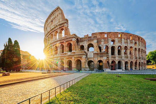 Colosseum in Rome with morning sun – Foto