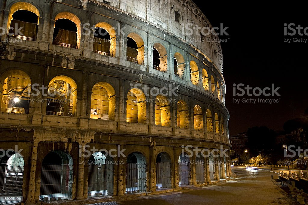 Colosseum Lights royalty-free stock photo