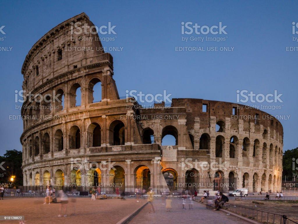 Colosseum Long Exposure stock photo