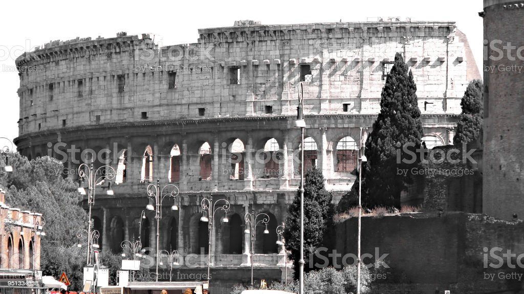 Colosseum - Rome - Italy stock photo