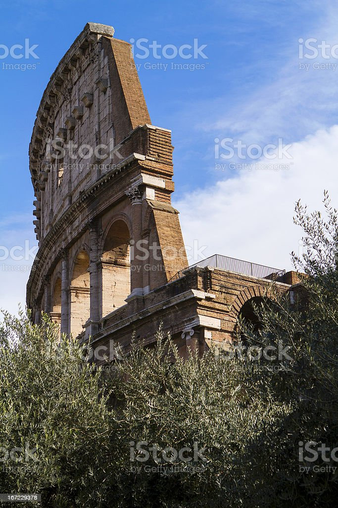 Colosseum side view royalty-free stock photo