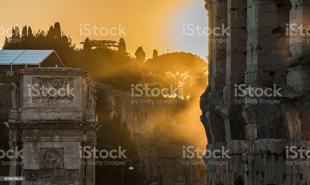 Colosseum Sunset II - fotografia de stock