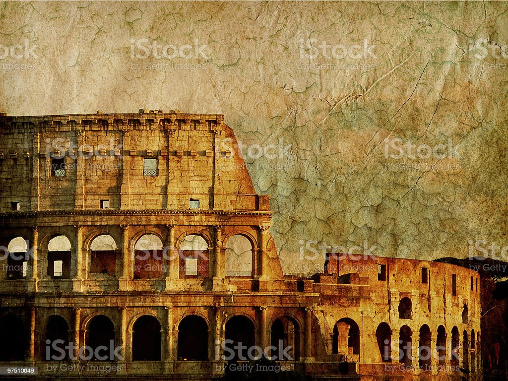 Colosseum - Vintage Rome royalty-free stock photo