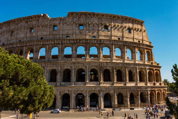 Colosseum Wall stock photo