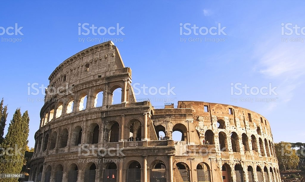 Colosseum Wide Angle royalty-free stock photo