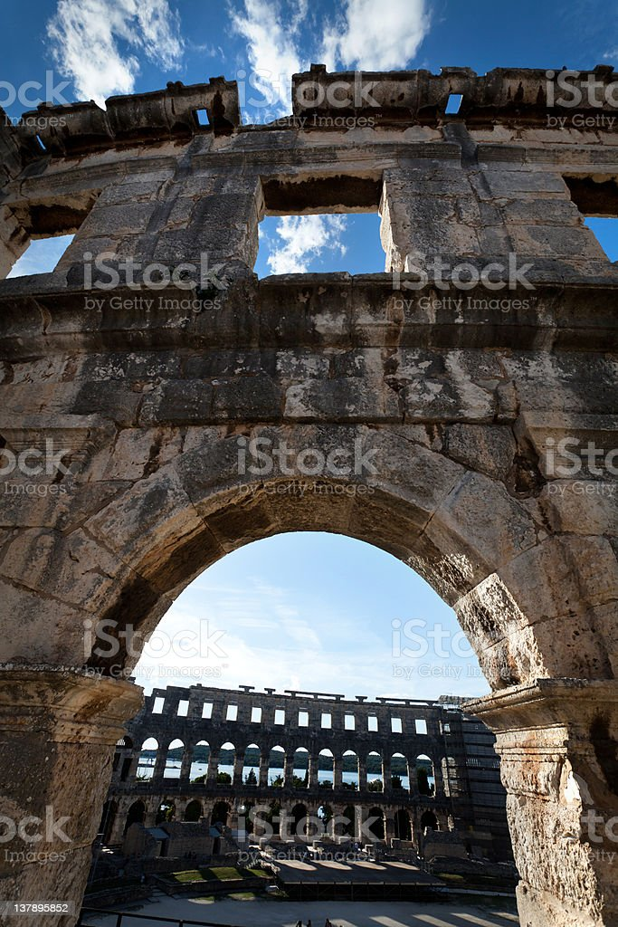 Colosseum Window royalty-free stock photo