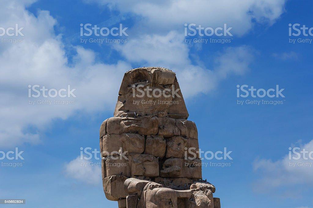 Colossi Memnon Luxor stock photo