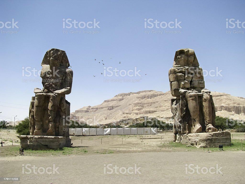 Colossi of Memnon in Luxor stock photo