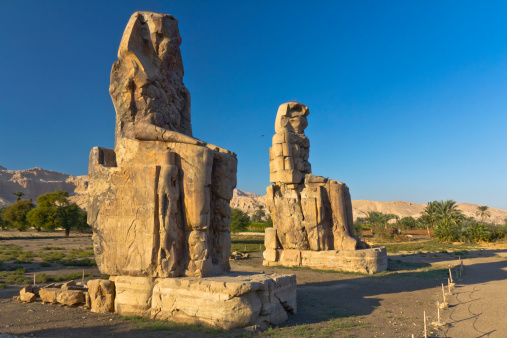 Colossi Of Memnon Stock Photo - Download Image Now