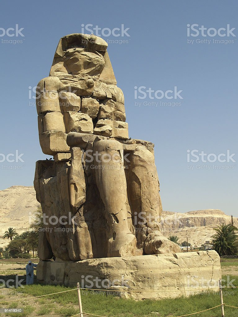 Colossi of Memnon royalty-free stock photo