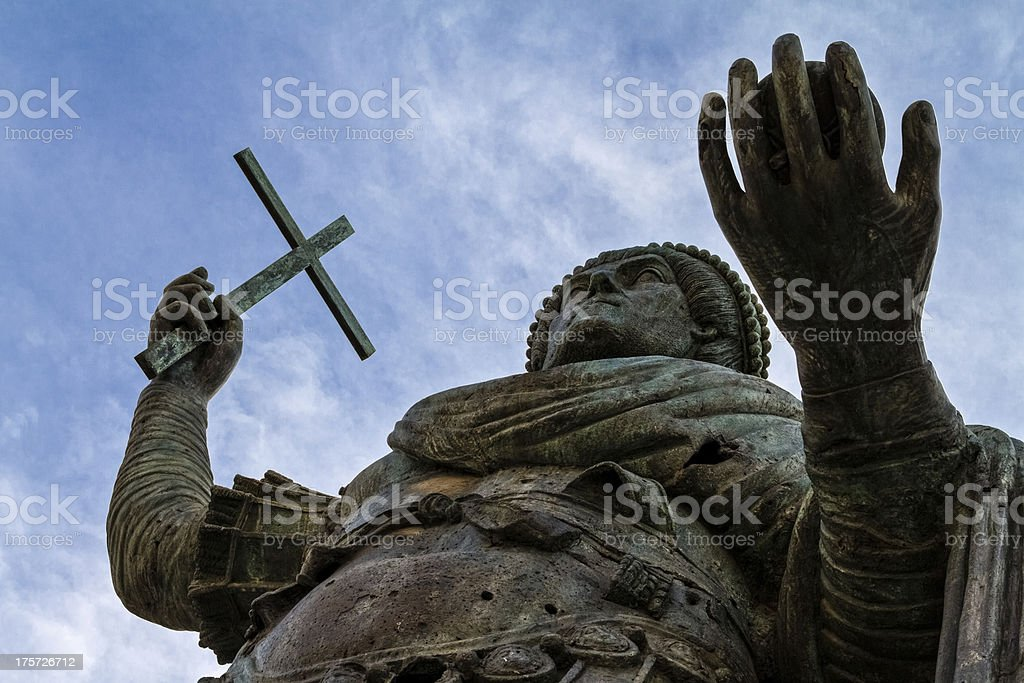 Colossus from below royalty-free stock photo