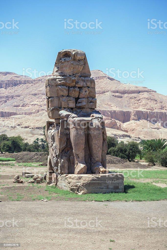 Colossus Memnon Luxor stock photo
