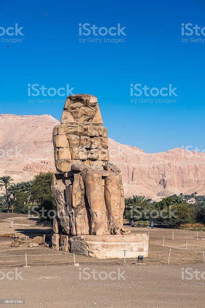 Colossus of Memnon stock photo