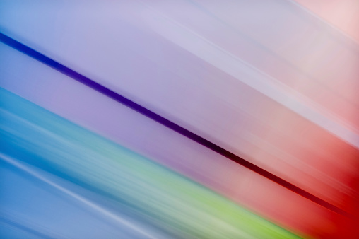Colour Abstract With Blurred Shapes From Environmental