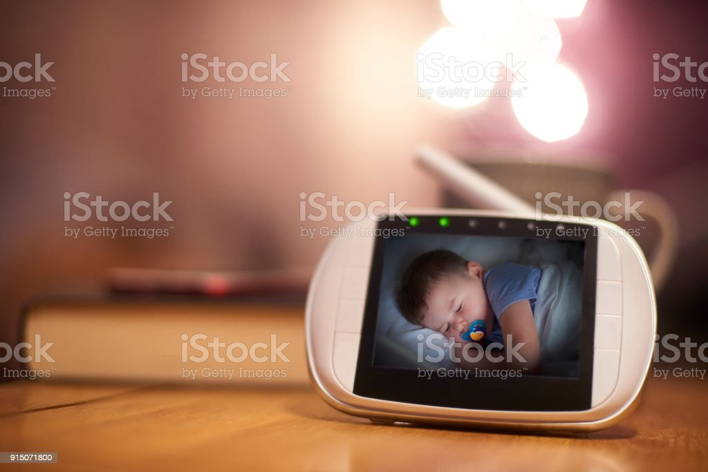 Colour baby Monitor stock photo