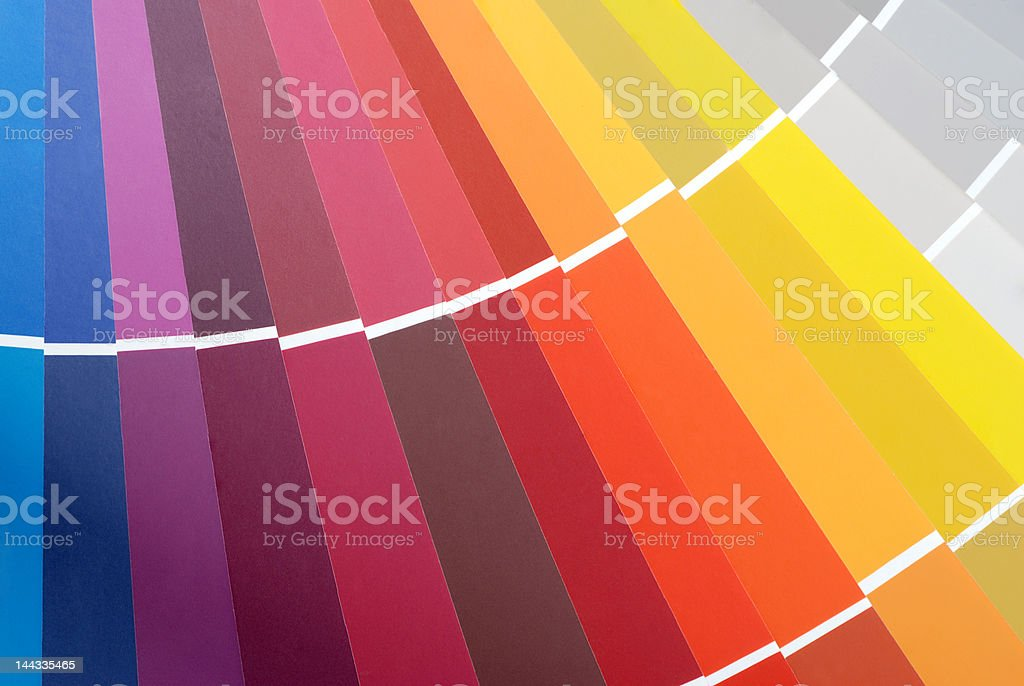 Colour Chart 2 royalty-free stock photo