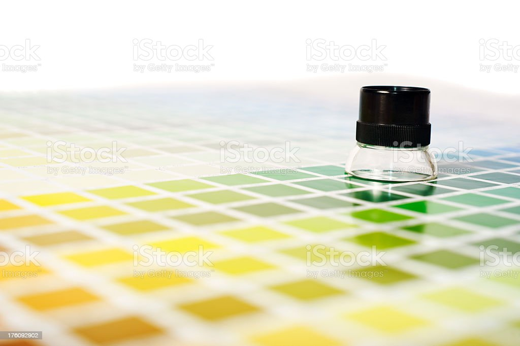 Colour Chart and Loupe royalty-free stock photo