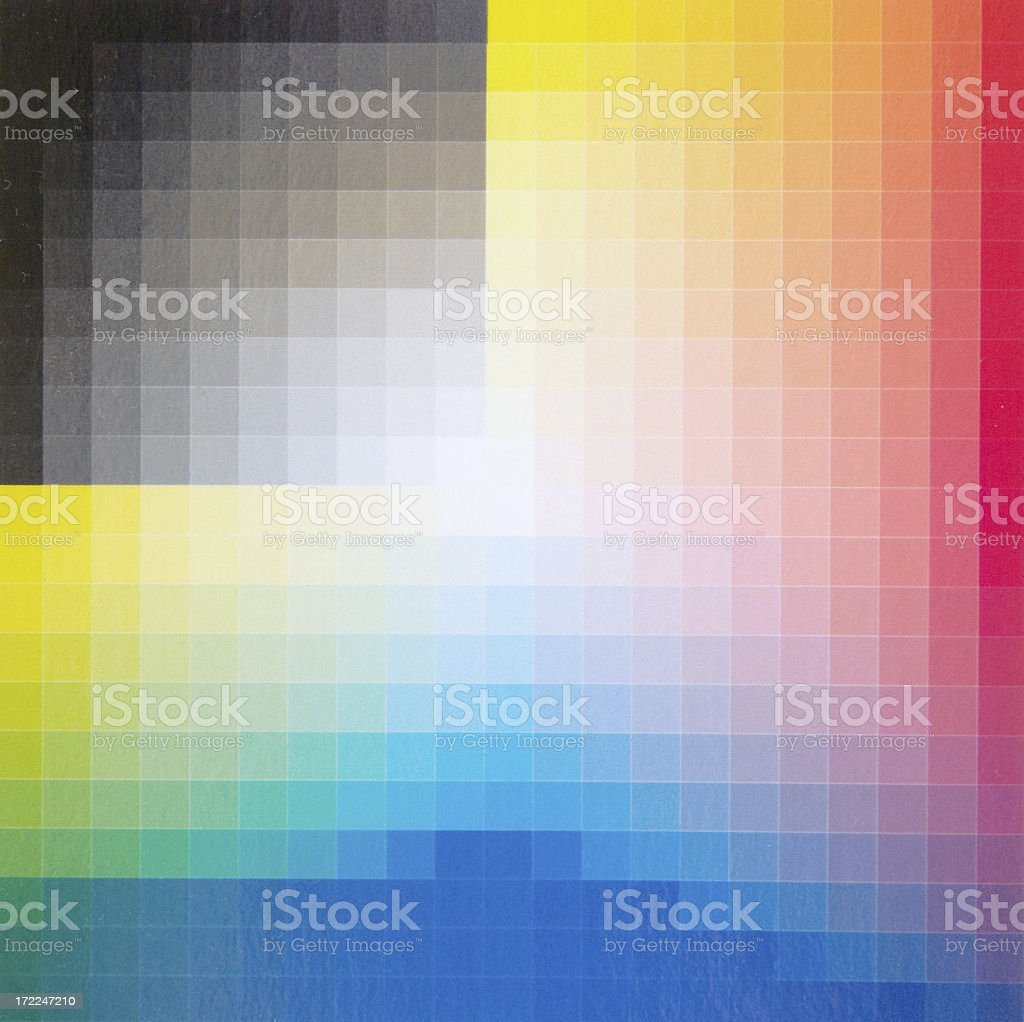 Colour Chart (detail) stock photo