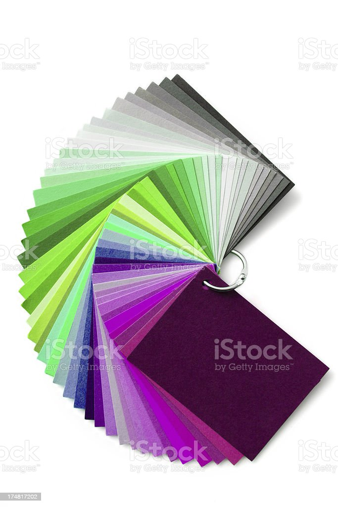 Colour chart stock photo