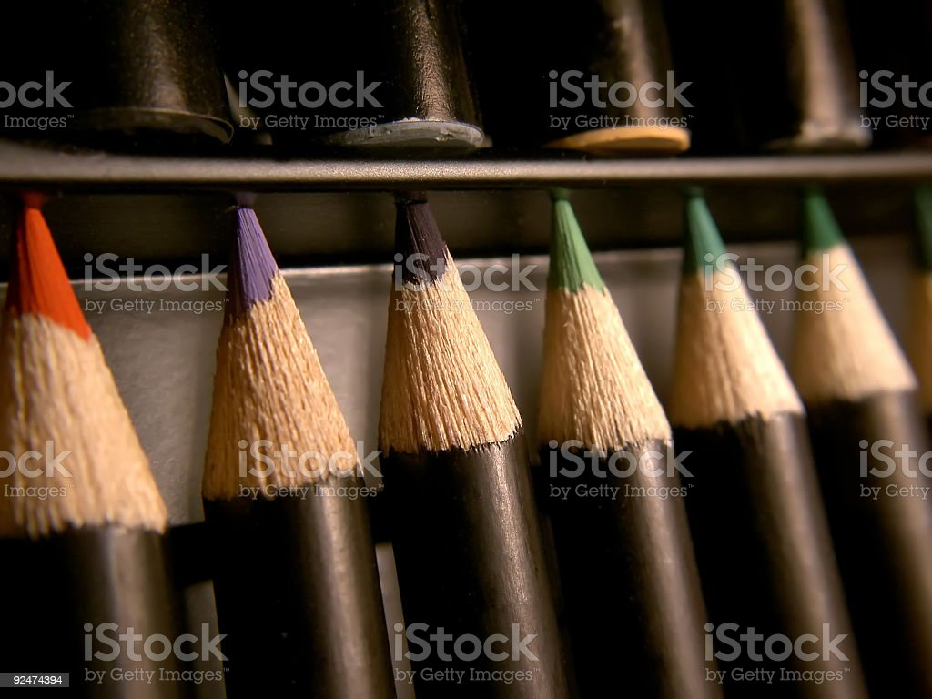 colour crayons royalty-free stock photo