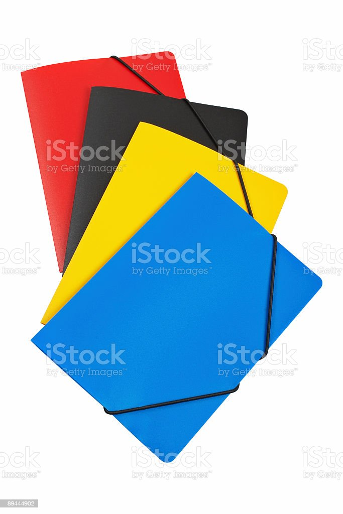 Colour folders royalty-free stock photo