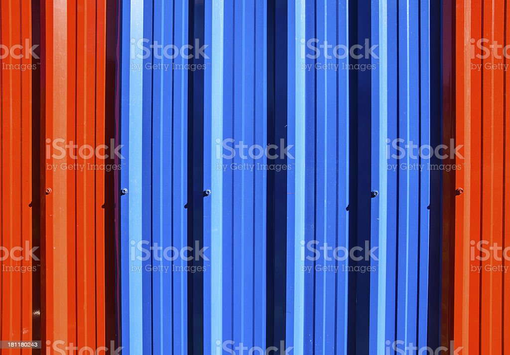 colour galvanized steel wall royalty-free stock photo