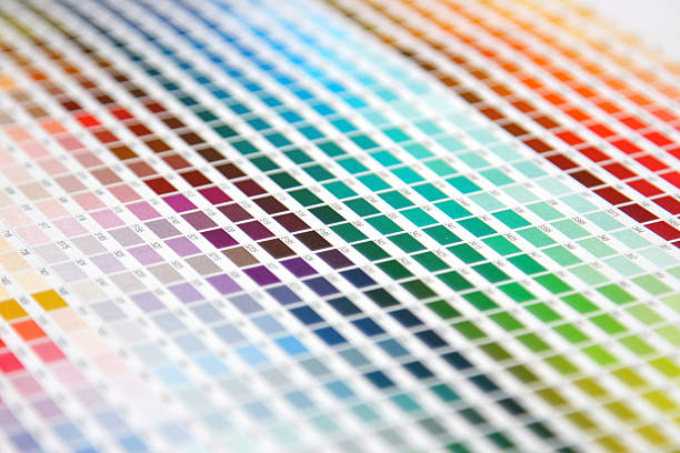 Colour guide - pantone swatch book stock photo