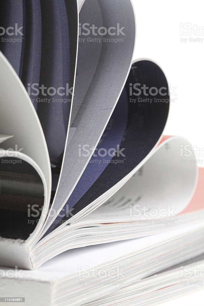 Colour illustrated magazine royalty-free stock photo