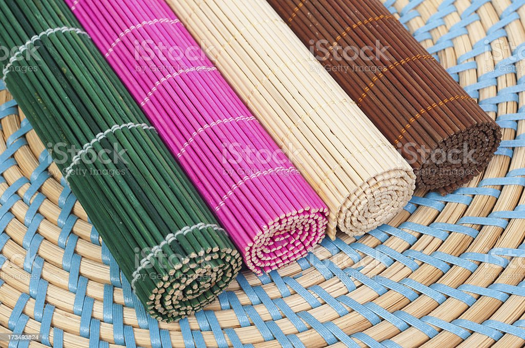 colour pads of straw royalty-free stock photo