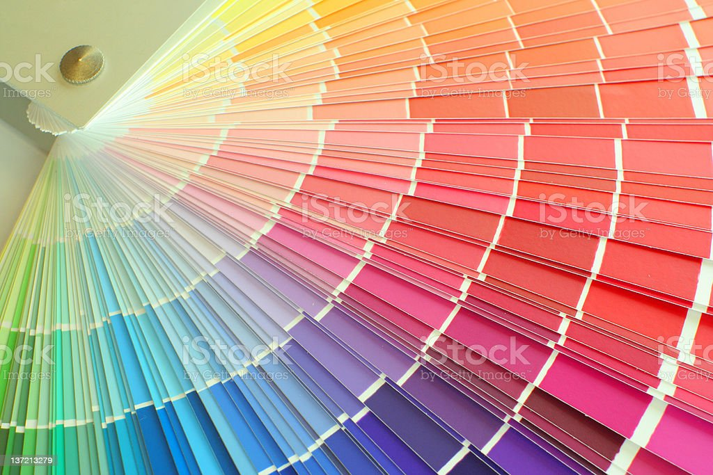 Colour palette royalty-free stock photo