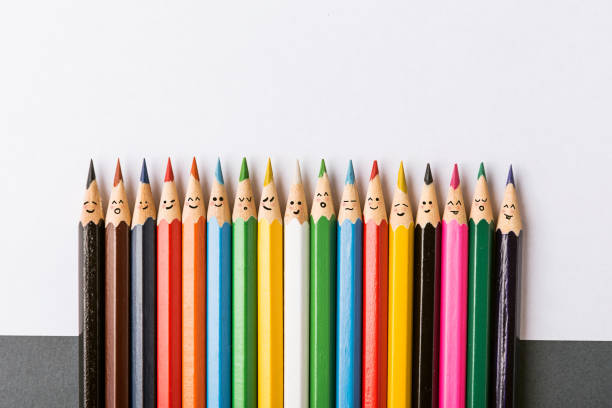 colour pencils - variation stock pictures, royalty-free photos & images