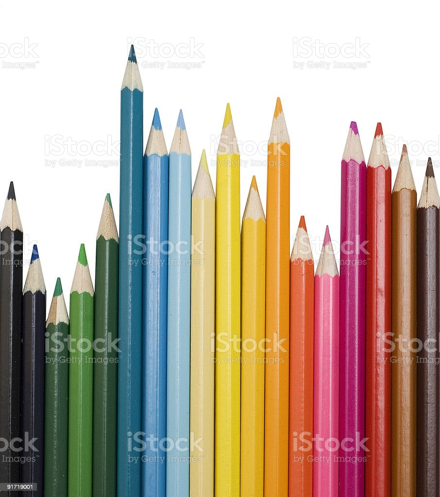colour pencils royalty-free stock photo