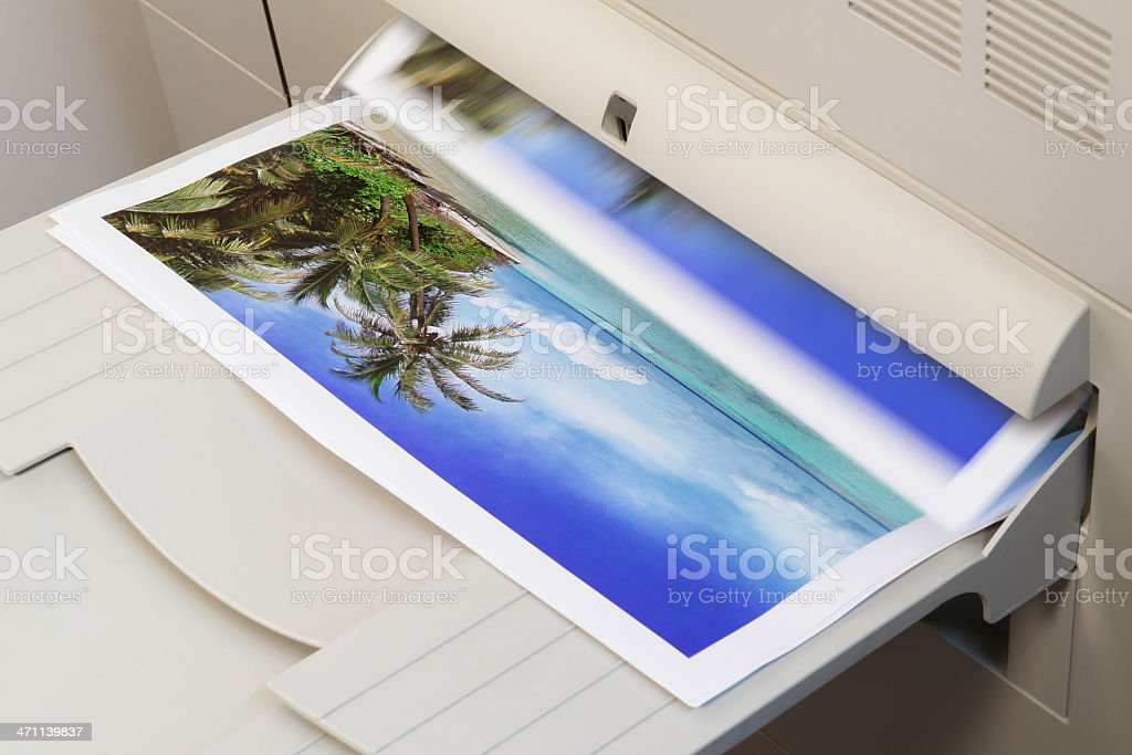 Colour Photo Printing royalty-free stock photo