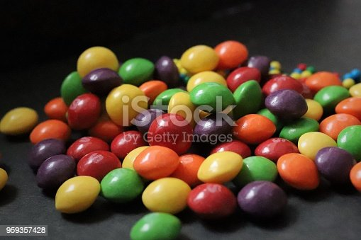 Colouful selection of sweets