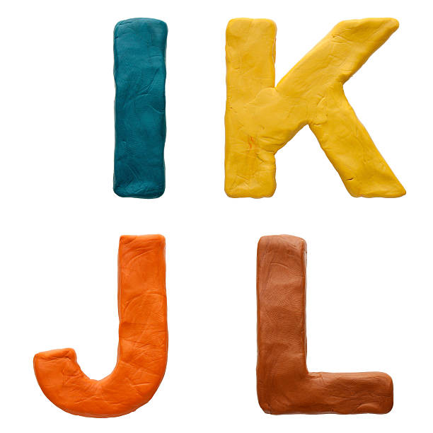 Colour plasticine letter isolated on a white background stock photo