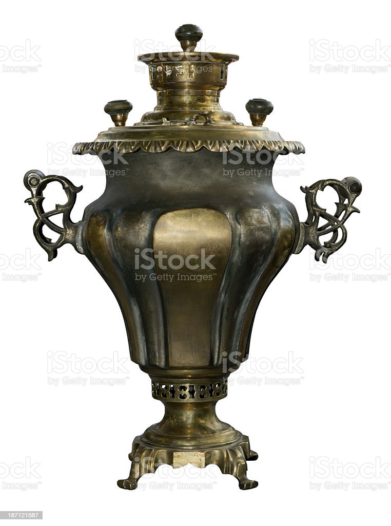 Colour samovar royalty-free stock photo