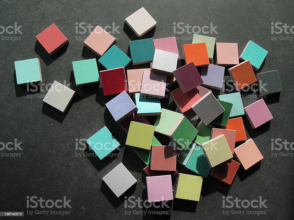 colour samples of tiles royalty-free stock photo
