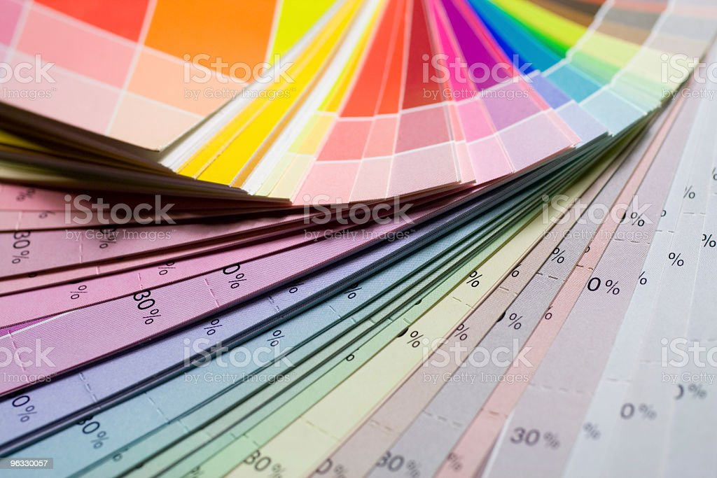 Colour scale royalty-free stock photo