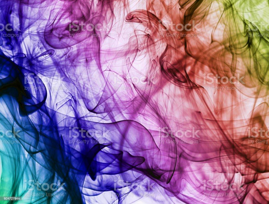 Colour Smoke Rainbow Color Design Creative Stock Photo - Download Image Now