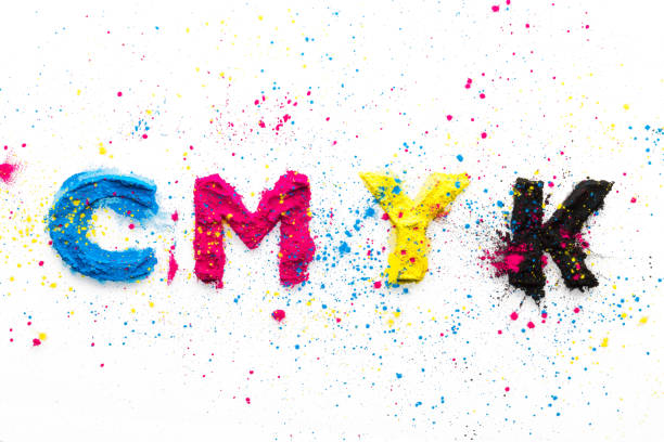 CMYK colour toner for printer cyan magenta yellow CMYK colour toner for printer cyan magenta yellow on white background cmyk stock pictures, royalty-free photos & images