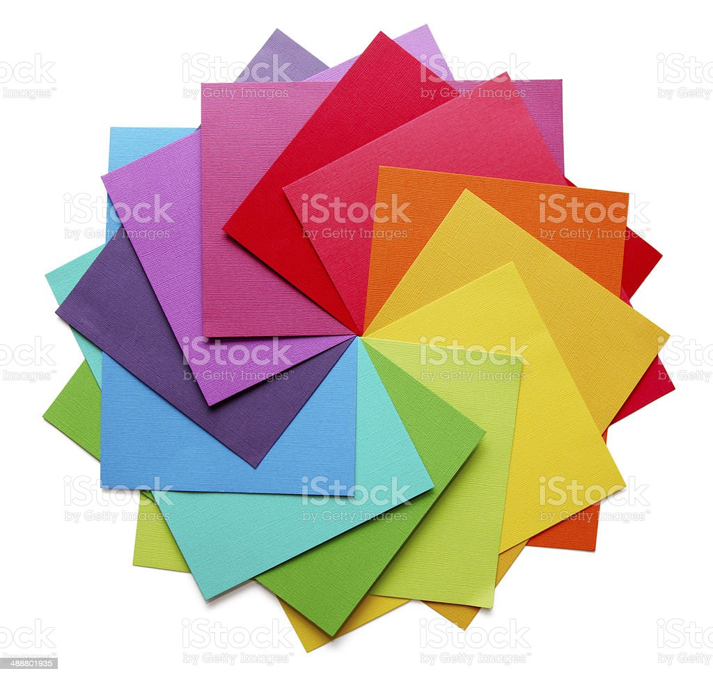 colour wheel stock photo