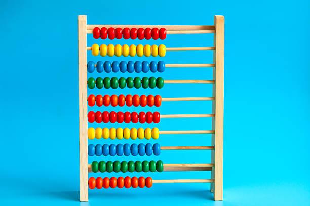 Colore Abaco di legno - foto stock