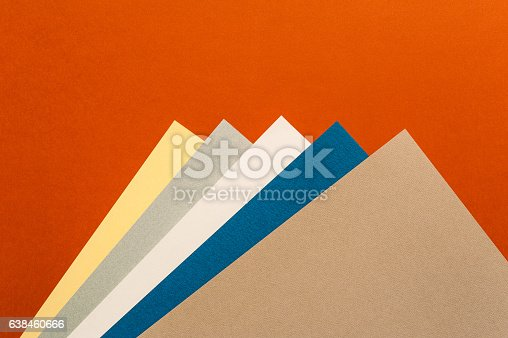istock Coloured and white paper sheets 638460666